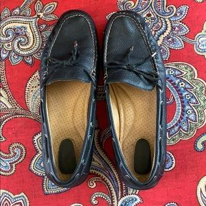 Sperry 9M Black Leather Moccasins